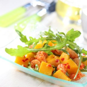 Spicy mango with crayfish