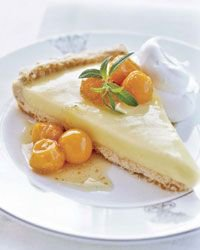 Tart with Cape Gooseberry Compote