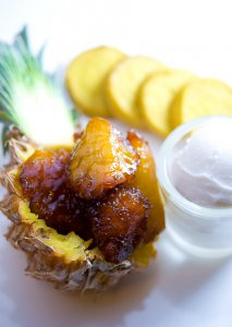 Caramelized Baby Pineapple with Coconut Sorbet